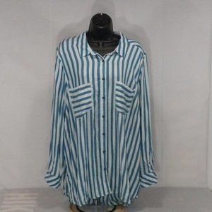 Melissa McCarthy Seven 2X Tunic Striped Top